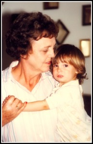 Mom and little Dillon, circa 1981