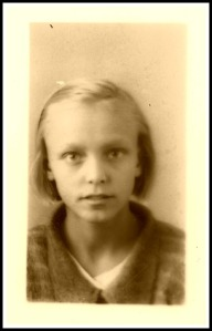 Mom, circa 1931. Forever young.