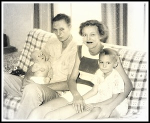 Happy family, circa 1953