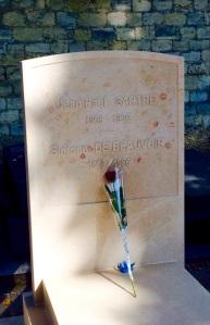 J.P. Sartre et S. de Beauvoir, Cimetière du Montparnasse, Paris